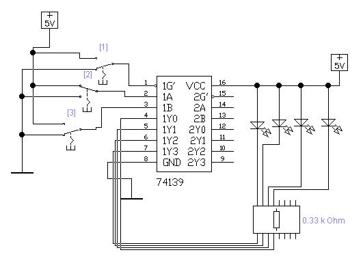 демультиплексор на логической микросхеме