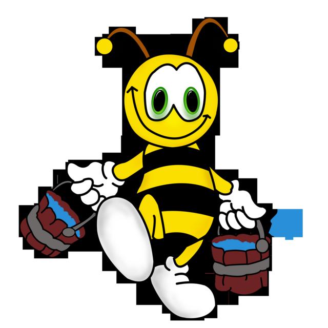 Открытки, смешная картинка пчелки труженицы