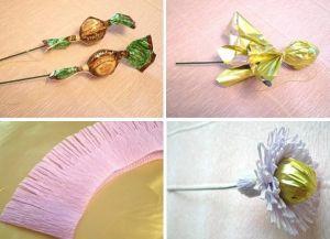 цветы из конфет своими руками40