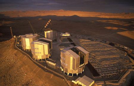 Телескоп VLT - Very Large Telescope. Очень большой телескоп.