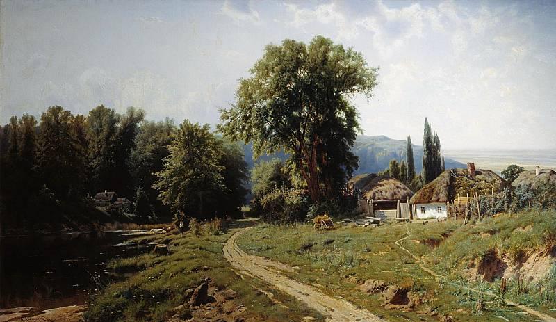 Хутор в Малороссии 1884 Холст масло. Крыжицкий Константин (1858-1911)