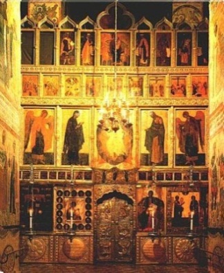 Иконостас, Благовещенский собор Московского Кремля