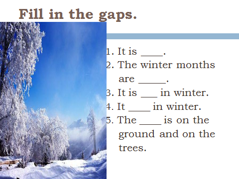 winter is the best season essay