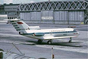 Aeroflot Yakovlev Yak-40 in Sweden.jpg