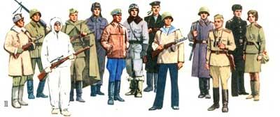 II. Образцы обмундирования командного и рядового состава Красной Армии в годы Великой Отечественной войны. 1941-1945 гг.