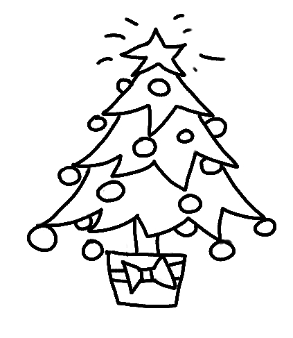 Рисунки новогодней елки карандашом.