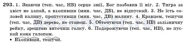ГДЗ Рiдна мова. 7 клас. Укр. Глазова О. П., Кузнецов Ю. Б., Задание 293