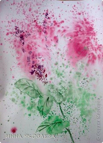 Картина панно рисунок Мастер-класс 8 марта Валентинов день День учителя Печать губкой Рисование и живопись Для тех кто совсем НЕ УМЕЕТ рисовать Два варианта Акварель Бумага фото 19