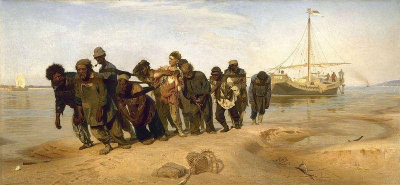 File:Ilia Efimovich Repin (1844-1930) - Volga Boatmen (1870-1873).jpg