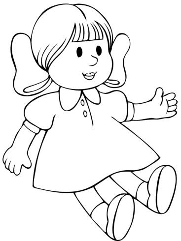 Раскраски куклы Ляли. Скачать. Распечатать StranaKids.ru