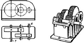 Двухступенчатый цилиндрический редуктор горизонтальный