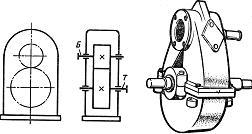 Одноступенчатый цилиндрический редукторы вертикальный