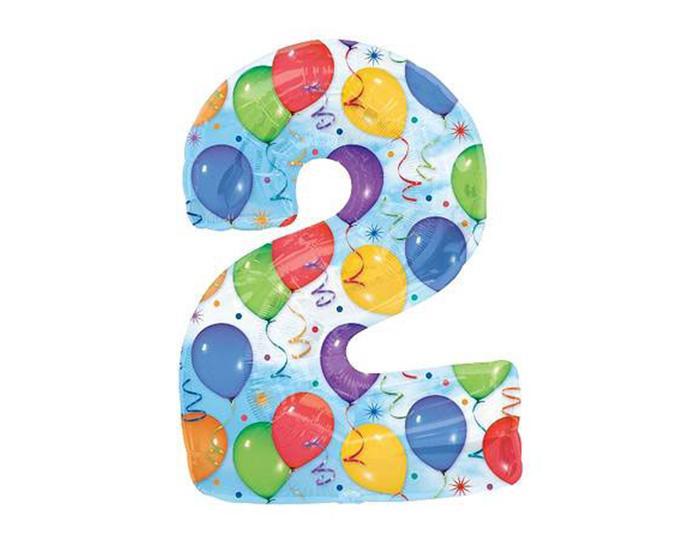Шар фигура цифра 2 Шары Фигуры большие - Фольгированные шары - ShowVish - организация праздников, украшения для праздника, шары