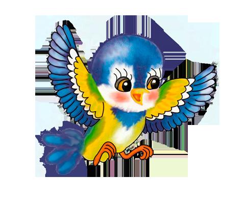 нарисованные птички картинки для детей