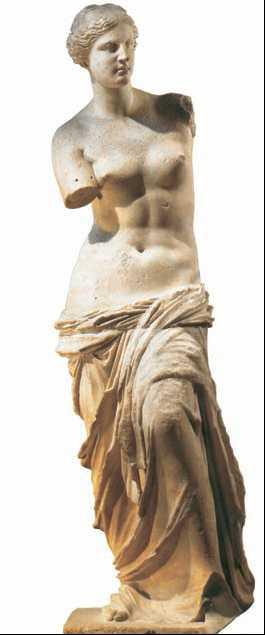 Венера Милосская. Мрамор. Сер. 2в. до н.э. Лувр. Париж