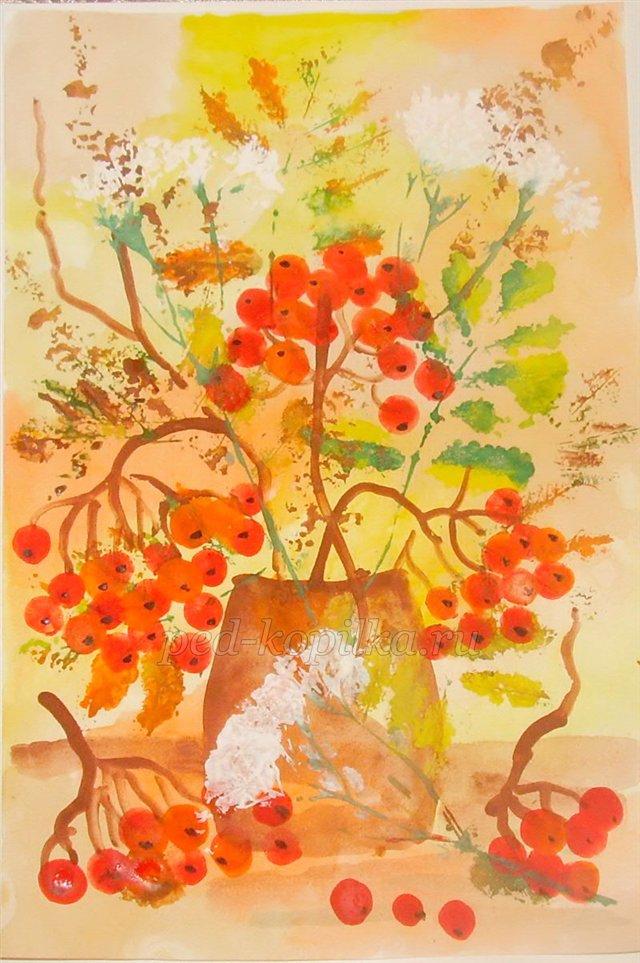 Занятие по рисованию с дошкольниками «Подарок осени»
