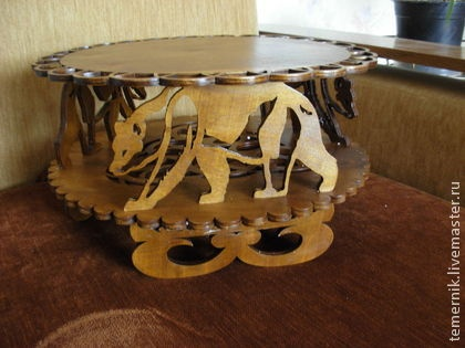 Мебель ручной работы. Ярмарка Мастеров - ручная работа Подставка на медведях. Handmade.