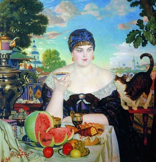 Русское чаепитие на картинах художников - фото 2