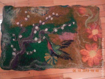 Валяное детское одеяло