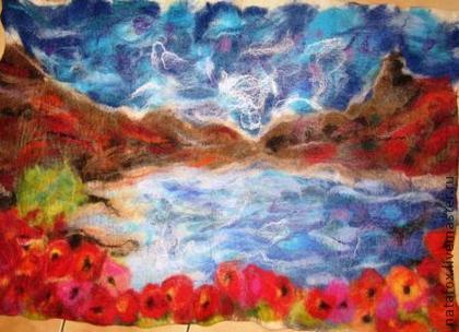Коврик валяный Осенью - коврик,коврик для детской,коврик из …